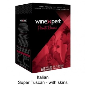 WineXpert Private Reserve - Super Tuscan, Tuscany, Italy – with grape skins (Winemaking Kit)