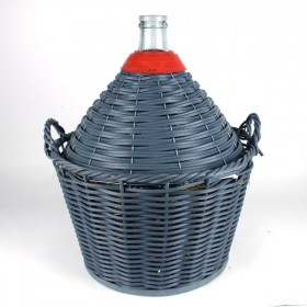 28 litre Demijohn / carboy with basket Narrow Mouth