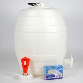 5 Gallon Basic Barrel with gas injection system and 10 CO2 bulbs