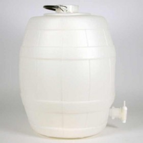 5 Gallon Basic White Plastic Barrel with pressure release valve