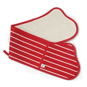 Belle - Kitchen textiles - butchers stripe double oven glove 91 cm red
