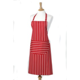 Belle - Kitchen textiles - butchers stripe standard kitchen apron 68 x 87 cm red