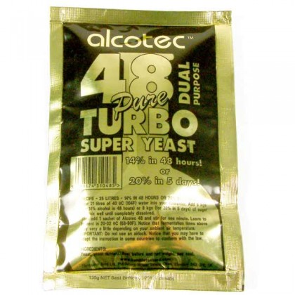Alcotec 48  Turbo Super Yeast from dowricks.com
