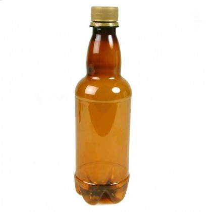 Amber screw top beer bottles - plastic - 500ml - 20 bottles from dowricks.com