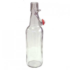 Clear swing top bottles - 500ml - each