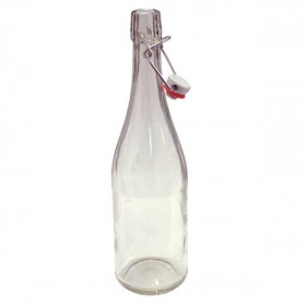 Clear swing top bottles - 750ml - case of 12