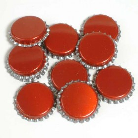 Crown Caps - Red - 100