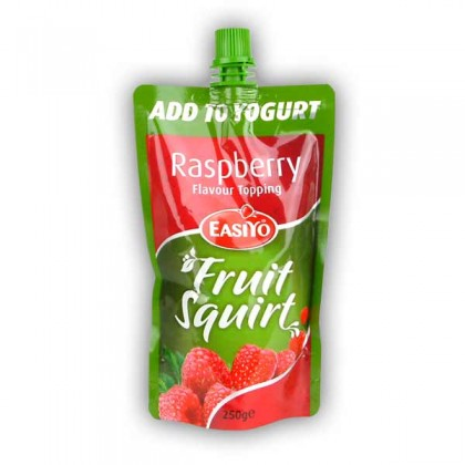 Easiyo Raspberry Flavour Topping Fruit Squirt from dowricks.com