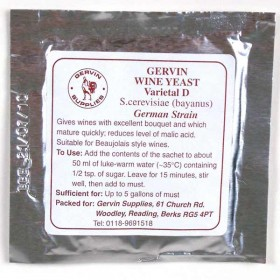 Gervin No 9 - White wine yeast