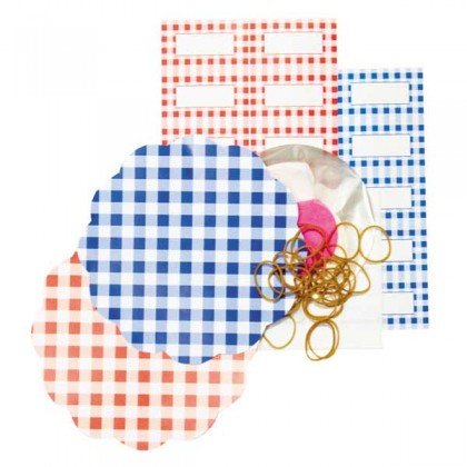 Gingham red/blue preserving set by Tala - 20 pieces from dowricks.com