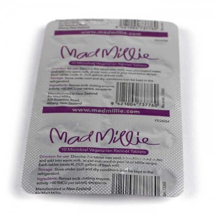 Mad Millie 4 Litre Rennet Tablets (strip of 10) from dowricks.com
