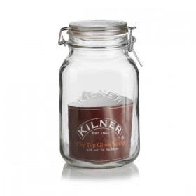 kilner clip top jar (square) - 2000ml (2 liter)