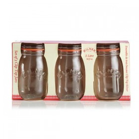 Kilner clip top jars (Round) - 500ml - sleeve of 3