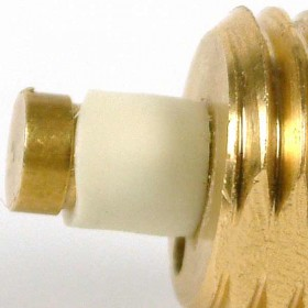 King Keg Brass Barrel Valve Inlet Sealing Sleeve in White