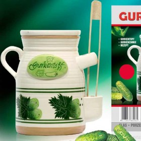 Pickled gerkin pot 6 litre