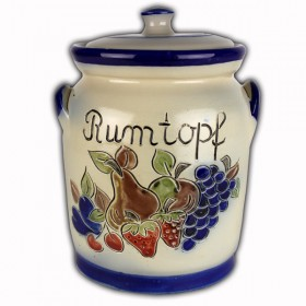 Rumtopf 4 litre fruit decoration saltglazed