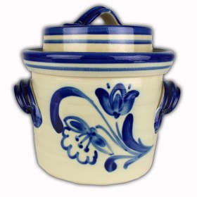 Sauerkraut Pot / Crock / 3 litre / Blue Grey Decorated