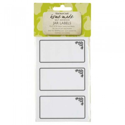 Self adhesive labels with a monochrome motif - 20 from dowricks.com