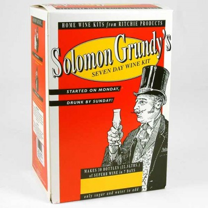 Solomon Grundy - Medium Dry Red - 30 Bottles from dowricks.com