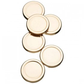 Spare Lids for preserving jars - pack of 6 - 63mm