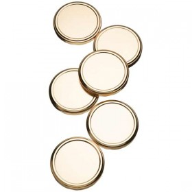 Spare Lids for preserving jars - pack of 6 - 82mm