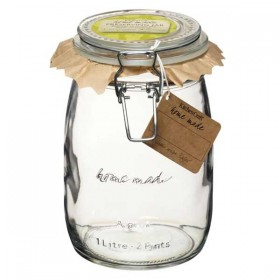 Traditional glass preserving jar - 1000ml (35oz)