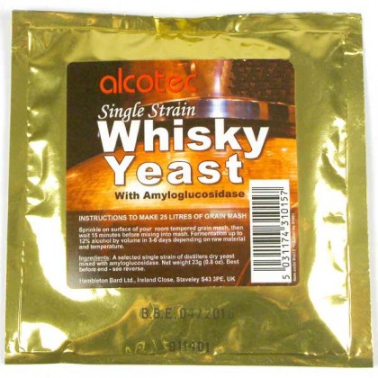 Whiskey Yeast with amylase from dowricks.com