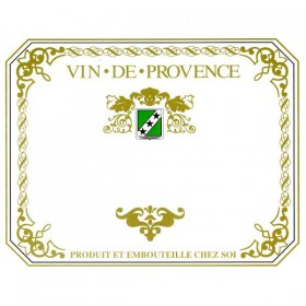 Wine labels - Vin de Provence - green