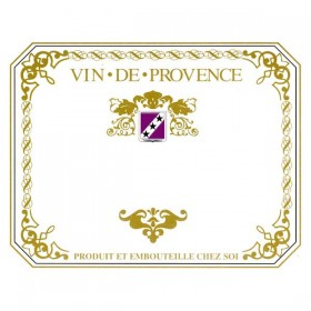 Wine labels - Vin de Provence - red - Pack of 25