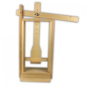 Wooden cheese press