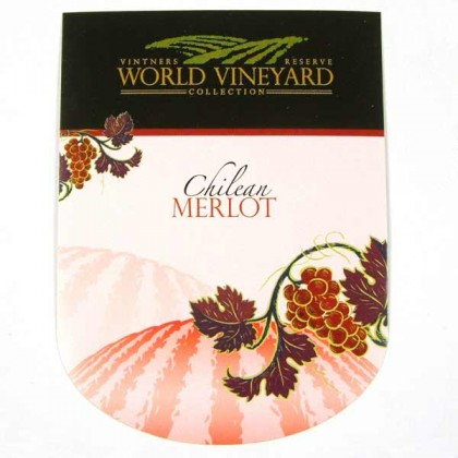 World Vineyard - Chilean Merlot - Labels from dowricks.com