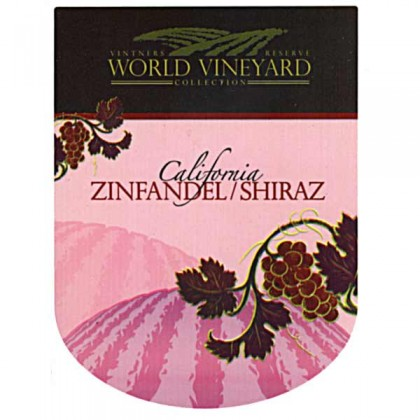 World Vineyard - Zinfandel / Shiraz - Labels from dowricks.com
