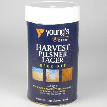 Youngs Harvest Pilsner Lager from dowricks.com