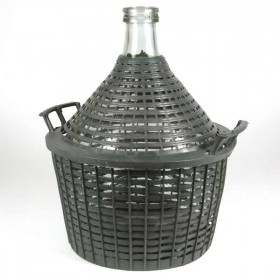 10 liter Demijohn with basket Narrow Mouth