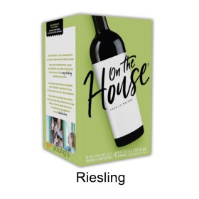 On the house - Riesling - 30 bottle wine kit