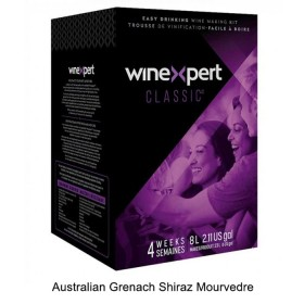 Winexpert Classic - Australian Grenach Shiraz Mourvedre - 30 bottle winemaking kit
