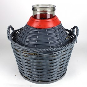 12 litre Demijohn / Carboy with basket Wide Mouth