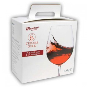 Cedars Gold Merlot 15 bottle wine kit