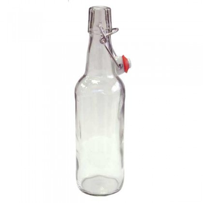 Clear swing top bottles - 500ml - each from dowricks.com